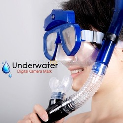 Free Shipping By CPAM High-quality With Cheap Underwater Scuba Mask diving digital Camera (4GB) - 30M water Waterproof Camera(China (Mainland))
