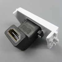 90 HDMI female to female connector with angle side HDMI Wall plate