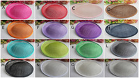 25*24.5 cm Sinamay Anomalistic Base Dipped Base 10pcs/lot #14 Color