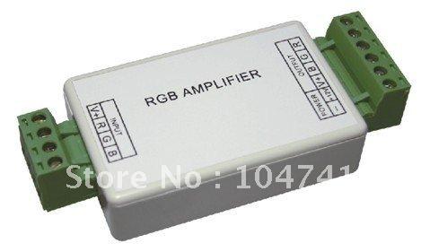 DHL Free shipping 50pcs Mini RGB Led amplifier/Singal Repeater/Led power supply extender,DC12V-24V(China (Mainland))