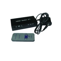 flexible 3 port HDMI switch with remote control Support 3D **factory direct sale**