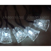 20 led solar powered string light with jingle bell shaped fairy light string Christmas decoration