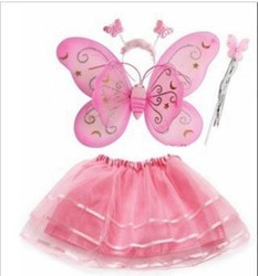 FREE SHIPPING,butterfly fairy wings,4 pieces,halloween costume/apparel,Party accessories,drop shipping,B076(China (Mainland))
