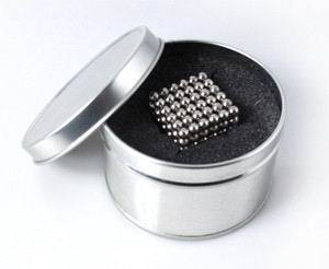 Hot sale! Free Shipping! size: 4mm 216pcs/set with metal box/Buckyballs,Neo cube,Magnetic Balls, neodymium/ color:nickel