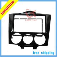 Free shipping-Car refitting DVD frame,DVD panel,Dash Kit,Fascia,Radio Frame,Audio frame for 03-09 Mazda RX8,2DIN