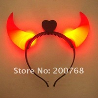 Free shipping by EMS wholesale Hot sale Lowest price NOVELTY ITEMS New LED FLASHING OX HORN head band Christmas party 100pcs/lot