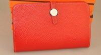 new arrive wholesale women's leather wallet   brand leather wallet,t,100% leather,high Quality