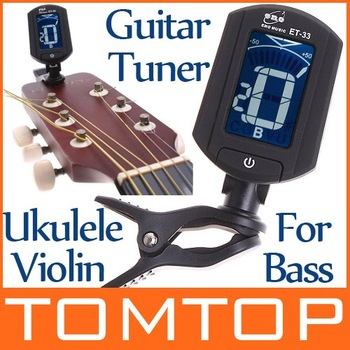 ENO Guitar Tuner Turning 360 degree LCD Digital Tuner for Chromatic Guitar Bass Violin Ukulele Stringed Instrument