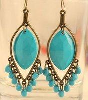 Vintage Water Drop Bead Tassel Earrings Fashion New Bohemian Style Women's Free Shipping 20pair/lot