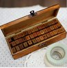 Promotion! 42 pcs/set Creative letters and numbers stamp gift box/wooden stamp/wooden box  Free Shipping