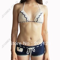 Hand crochet bikini factory direct retail and wholesale swimwear