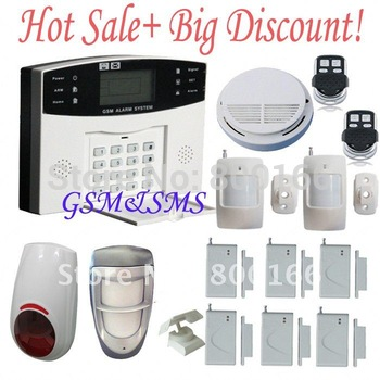 Free shipping +3 days delivery+outdoor pet immune 25kg+ LCD SMS GSM TRI-BAND wireless alarm
