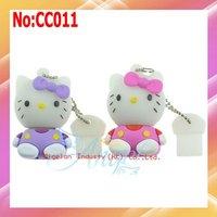 2012 new arrival Hot Sale Stock Plastic No Usb 2.0 Pendrive Free Shipping Wholesale 32gb Hello Kitty Usb Flash Drive #CC011