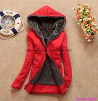 Free shipping,Hot Sale Womens Hoodies,Womens Sweatshirts Hoodies, Lady's Dust Coat /JK-018