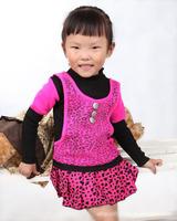 Baby Girls' sweater girls' suit baby dress long sleeve sweater dress Girls Leave two swea1209 D WHJ