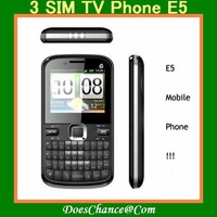 E5  Russian menu 3 SIM Mobile Phone E5 TV QWERTY russian  Keyboard