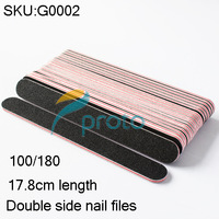Freeshipping- 100/180 double side black color round nail file manicure tool wholesales SKU:G0002