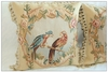 "Free Shipping Hand Woven Wool French Aubusson Pillow Cushion Cover - Vintage Tropical Parrot 18""x18"""