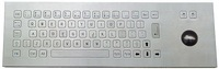 IP65 vandalproof industrial stainless steel keyboard with trackball(X-BN66F)