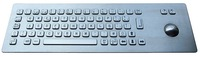 IP65 anti-vandal industrial stainless steel keyboard with trackball(X-BP661F)