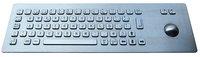 IP65 anti-vandal industrial stainless steel keyboard with trackball(X-BP661F)