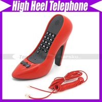 Free shipping/Lady Shoe Shape Style High-Heel Novelty Home Telephone Corded Phone #3052