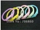Silicone Wristband Sports Healthy Watch Anion Bracelet Jelly Watch Night-luminous With OPP 5pcs