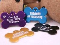 2*3cm small  Fashion  bone shaped  dog id  tag  free shipping