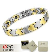 OPK JEWELRY BRACELET Tungsten steel bracelet BIO Energy 18.5CM  Length 935