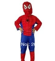 Halloween  Masquerade Clothes Children clothes suit Spider-Man Spider-Man clothing 1pcs