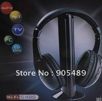 Free shipping Wireless Earphone Headphone 5 in 1 for MP3 PC TV