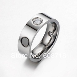 Elegant New Designer Fashion Dia Monds LOVE RING,Platinum Plated Metal With Clearly Stones,Vintage Formal Ring For Pretty Women(China (Mainland))