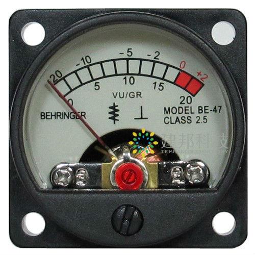 Amplifier vu meter