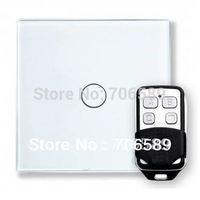 Free Shipping 1 Gang RF Wireless Radio Remote Control Touch Wall Light Switch Smart Home Livolo Glass Panel LED lndicator