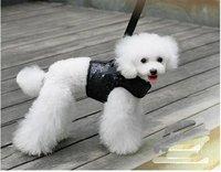 2012 new!sequins batman design black color pet puppy cat harness leash sets.Halloween pet products.free shipping!10pcs/lot