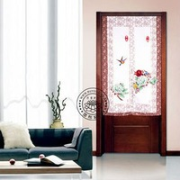 room divider Curtain fabric Japanese screen cut off trade lovely pastoral lace geomantic omen door curtain Peony