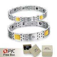 OPK JEWELRY BRAND NEW Fashion Bracelet Jewelry Energy health Magnetic Bracelets for man and women Balance bracelets 1PCS 22CM