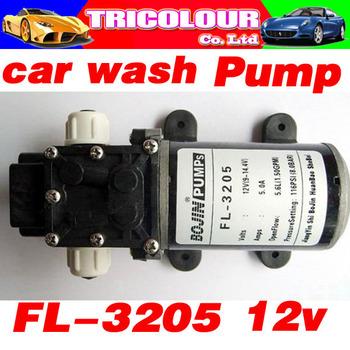 Powerful Mini Car washing Pump Auto Washing Cleaning Device FL-3205 5.6L/MIN 114PSI 8.0BAR Black DC 12V Free Shipping #A09011