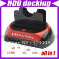 "2.5"" 3.5"" SATA/IDE 2-Dock HDD Docking Station e-SATA/Hub #1992"