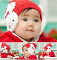 Rabbit hat gorro conejo kids winter girls Cap;baby infant beanies Toddler Ear Flap Warm Crochet #2C2507 10 pcs/lot (5 colors)
