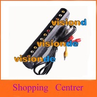 Free Shipping 4 group AV Audio S Video Selector Switch Cable #38010