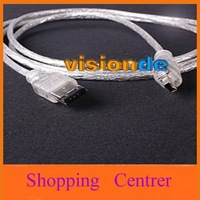 IEEE 1394 iLINK FIREWIRE 6 to 4 PIN CABLE FOR DV ##39540