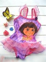 Free Shipping Girl Princess Dora Baby Tutu Swimsuit Swimwear Swimming Costume Bathers SZ 2-9 Y GS71
