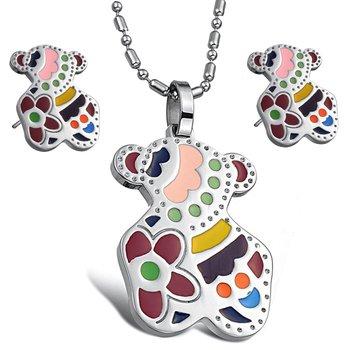 OPK JEWELRY SET WHOLESALE stainless steel Set earring pendants necklace Studs Earrings JEWELLERY SETS free shipping