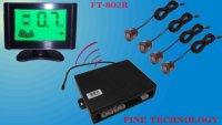 brand new factory price 12Voltage ultrasonic waterproof sensor color LCD voice alart display wireless parking sensor FT-802R