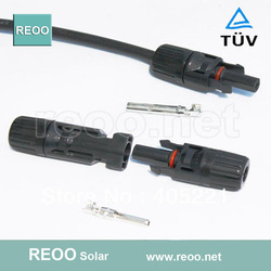 Best sell MC4 solar connector,Solar PV Connector with TUV,Rated Current 30A,Factory Price,50pairs per lot(China (Mainland))