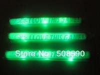 Free Shipping 360pcs/lot green flashing led foam stick light cheering glow stick for Christmas