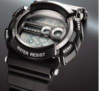 Free Shipping - Diving Luminous Black Sport Style Digital Men Man Wirst Watch rubber Band 50M Deeo waterproof 012