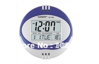 Free shipping 1/pc new digital wall clock /alarm clock/ Thermometer Temperature meter
