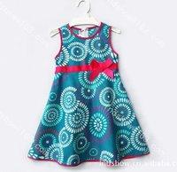 Baby Grils dress kids Children Dress flower dot vest sleeveless dress girls dresses 0302 B swj